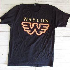 WAYLON Jennings Flying W Men's Tee Shirt SZ L